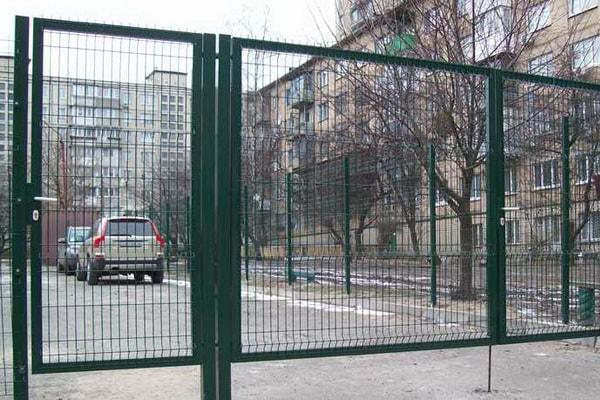 Ворота из сварной оцинкованной сетки с полимерным покрытием