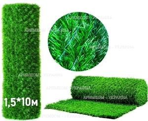 Зелёный забор из искусственной травы или хвои не нуждается в специальном уходе,