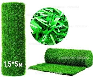 Зелёный забор из искусственной травы или хвои