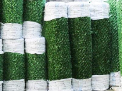 Упаковка и доставка зелёного забора
