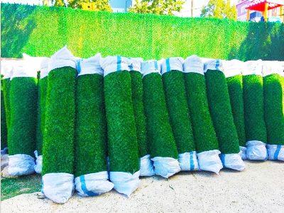 Установка зелёного забора