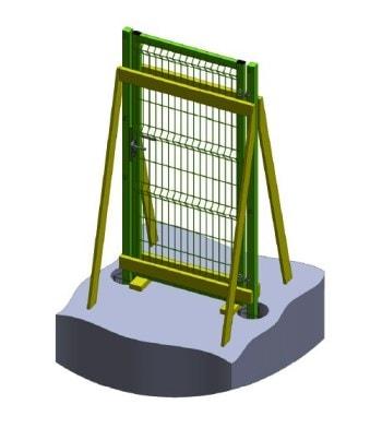 10) Зафиксируйте положение калитки в деревянной обвязке
