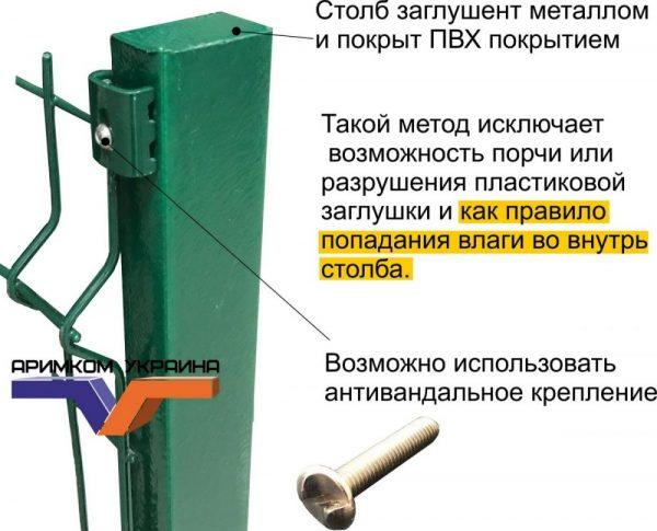 Сварная сетка 1,53м/ППЛ/3D/3х4