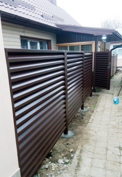 Жалюзи забор металлический в Запорожье
