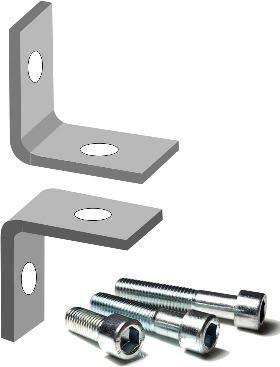 Набор крепежа для монтажа забора металлического