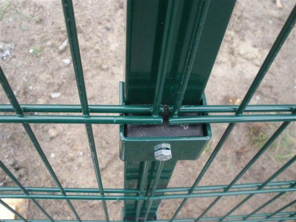 kreplenie duos 1 600x450 - Столб H - 1.3м/ППЛ/56х36х1.5мм/анкер без отверстий, под хомут
