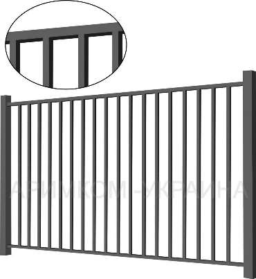 Металлический забор «Дзен»