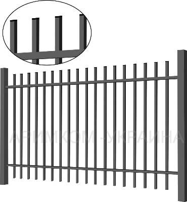 Металлический забор «Дзен standart»