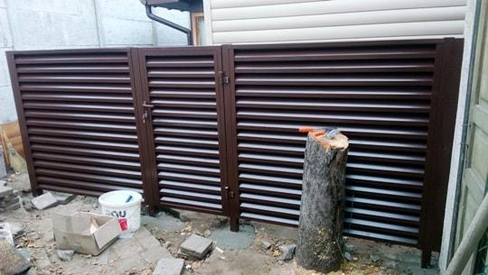 Металлический забор жалюзи в Запорожье