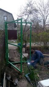 установка ворот и калиток из сетки