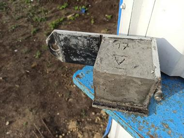 Наш контроль качества использованного бетона для монтажа забора
