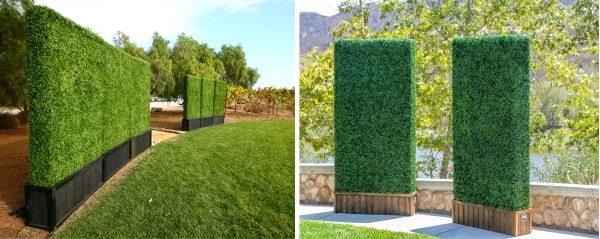 Установка декоративного зелёного забора, строительство с нуля (металлокарскас)
