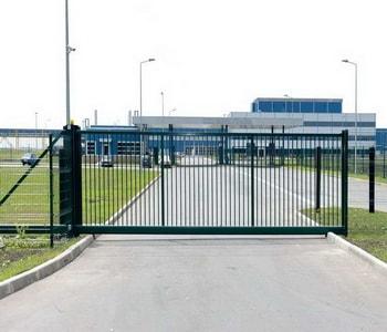 Откатные ворота из сетки