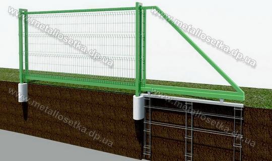 сдвижные ворота из сетки