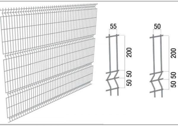 Cетка для забора 2,23-3м/ППЛ/3D/200х50/4