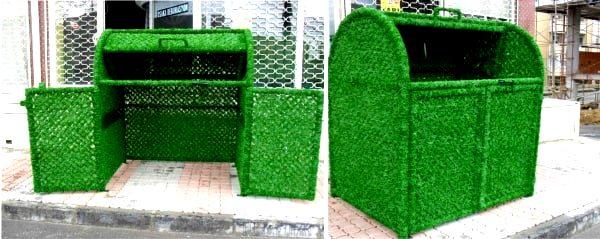 Декоративное зеленое ограждение для специальных конструкций