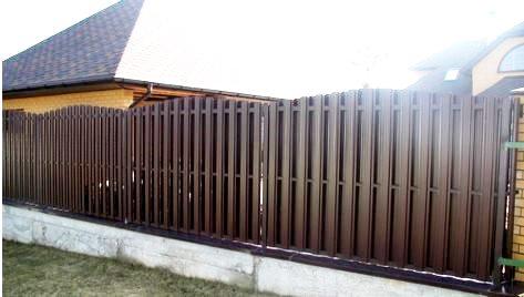 Забор из штакетного профиля