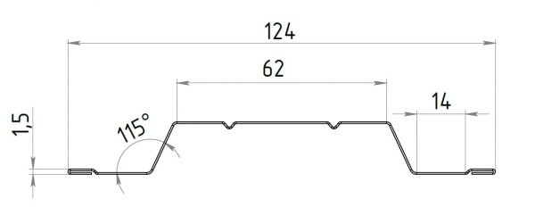 shtaketnyy profilj min 600x232 - Штакетный забор 2*1.25м/0,45мм