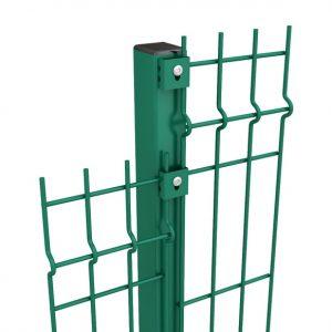 Столб H - 2.3м/ППЛ/56х36х1.5мм/анкер