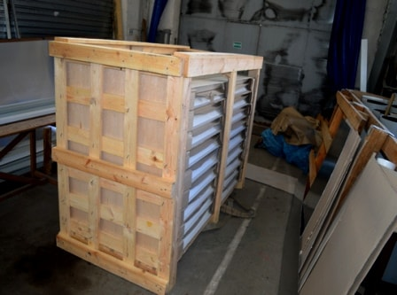 Деревянная обрешётка для упаковки забора жалюзи