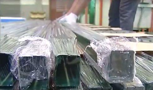 Упаковка столбов для сварной сетки