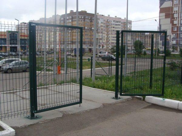 vorota raspashnye8 600x450 - Ворота распашные 2,5х1,23 м/ППЛ