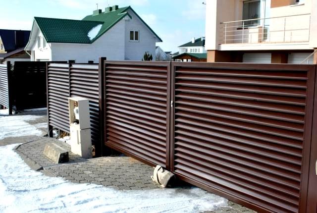 Забор жалюзи в Запорожье