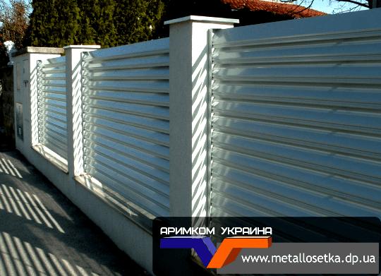 Металлический забор жалюзи в Днепропетровске